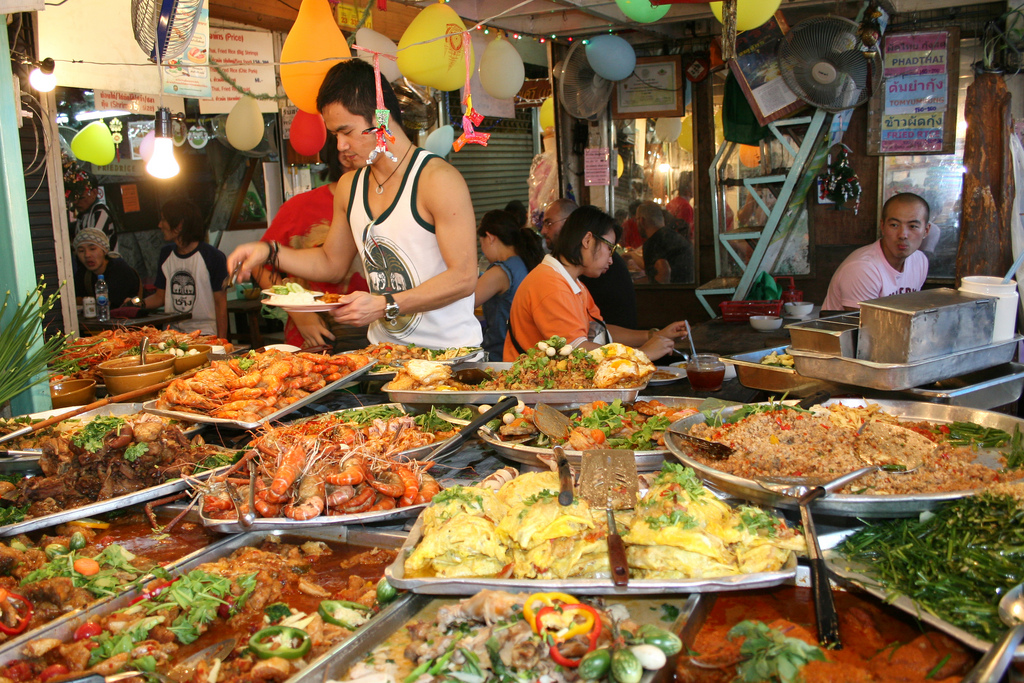 a banquet of street food